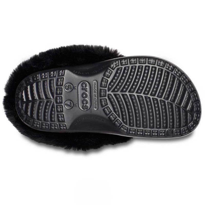 Crocs Classic Mammoth Luxe Metallic Clog Black UK 6-7 EUR